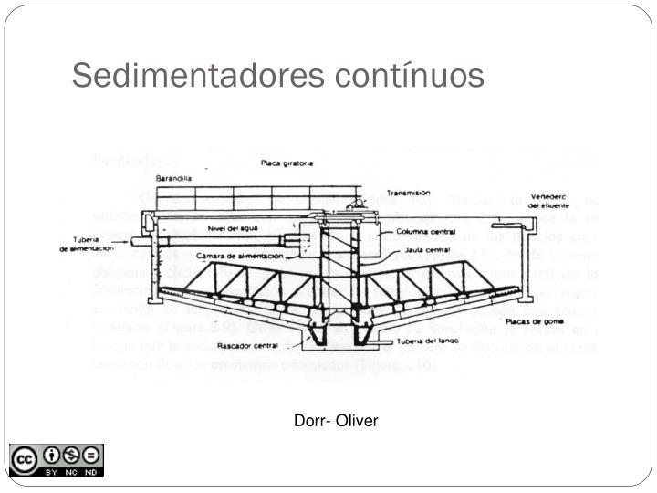 Sedimentadores contínuos