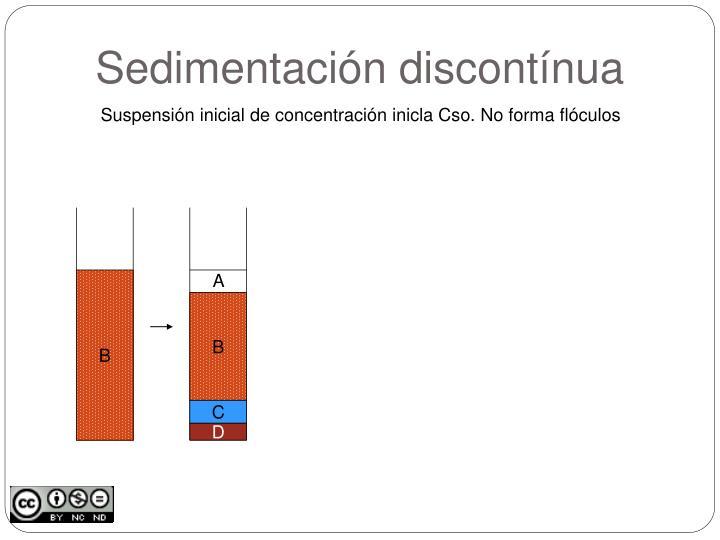 Sedimentación discontínua