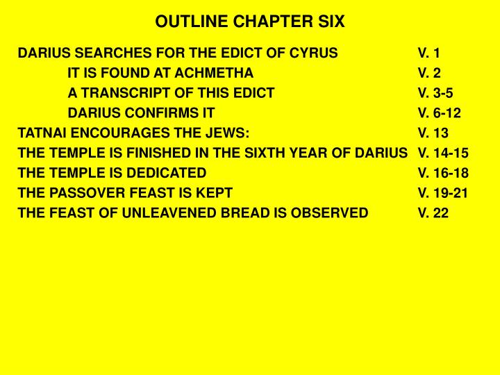 Outline chapter six