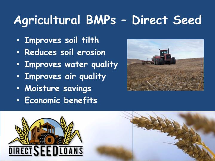 Agricultural BMPs – Direct Seed