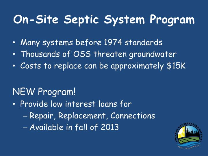 On-Site Septic System Program