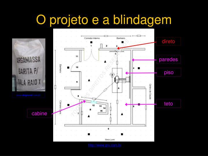 O projeto e a blindagem