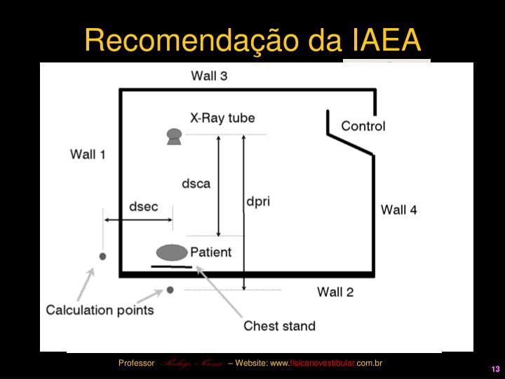 Recomendação da IAEA