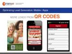 optimizing lead generation mobile apps