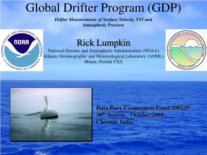 Global drifter program gdp