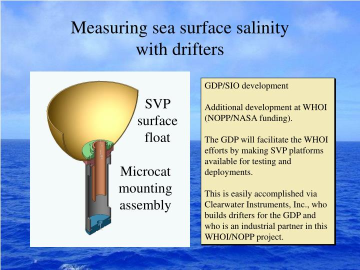 Measuring sea surface salinity with drifters