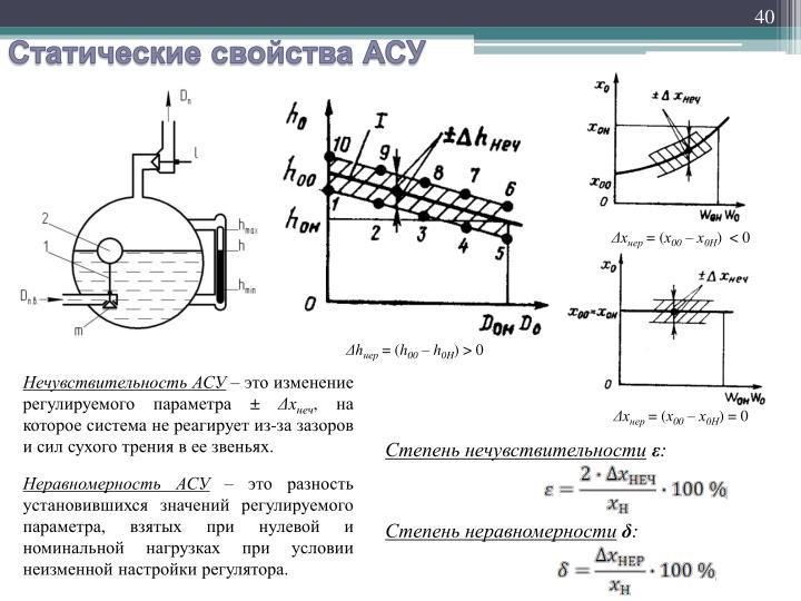 Статические свойства АСУ