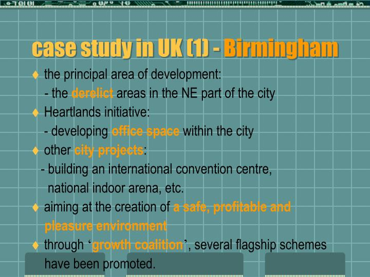 case study in UK (1) -
