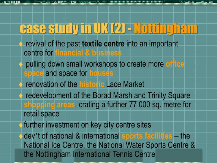 case study in UK (2) -
