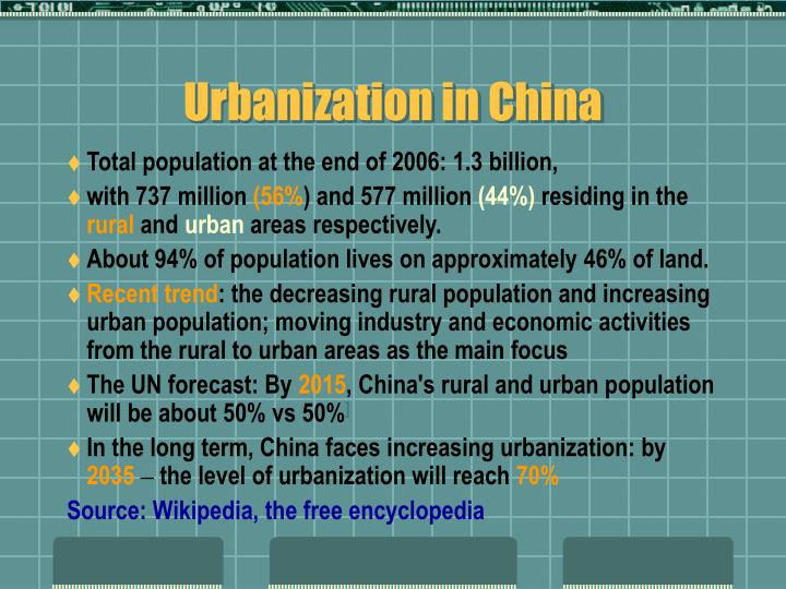 Urbanization in China