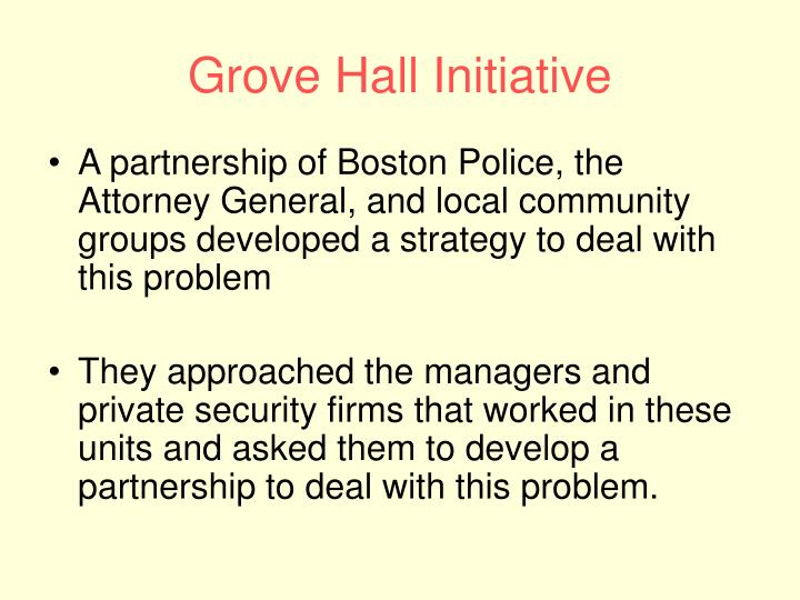 Grove Hall Initiative