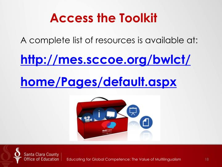 Access the Toolkit