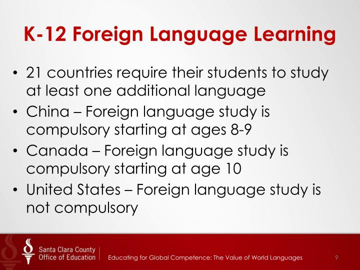 K-12 Foreign Language Learning