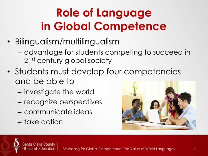 Role of Language