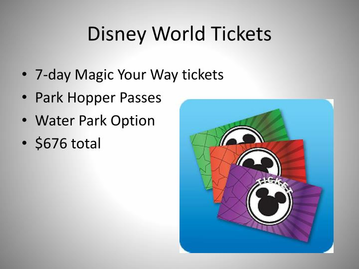 Disney World Tickets