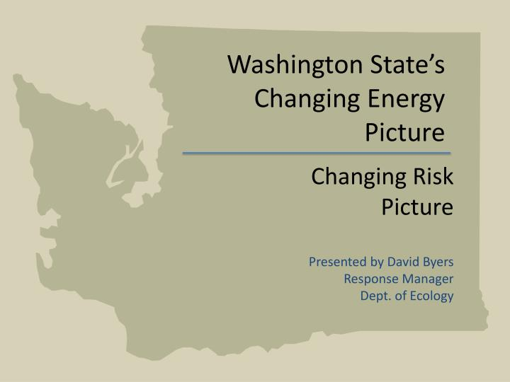 Washington state s changing energy picture