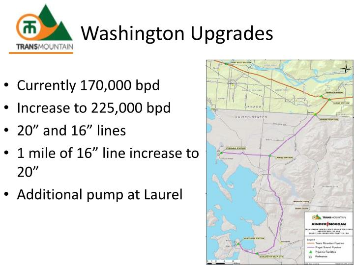 Washington Upgrades