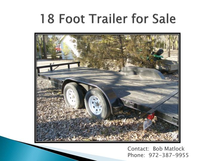18 foot trailer for sale1