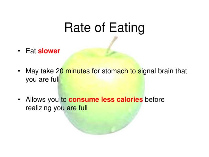 Rate of Eating