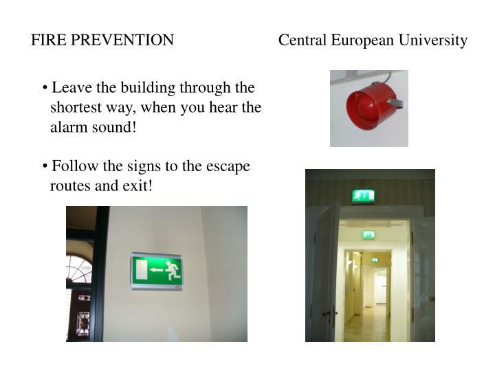 FIRE PREVENTIONCentral European University