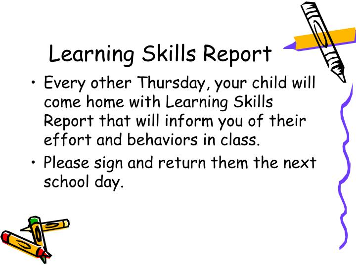 Learning Skills Report