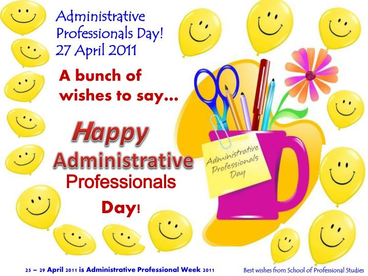 Administrative professionals day 27 april 2011