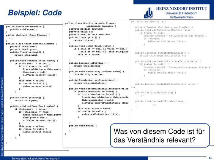 Beispiel: Code