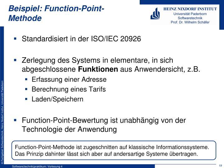 Beispiel: Function-Point-Methode
