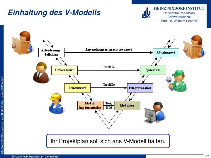 Einhaltung des V-Modells