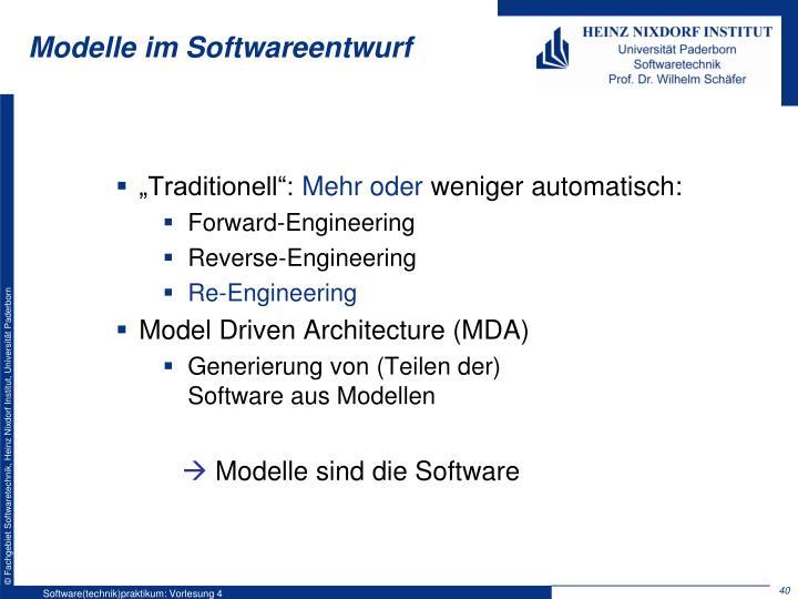 Modelle im Softwareentwurf