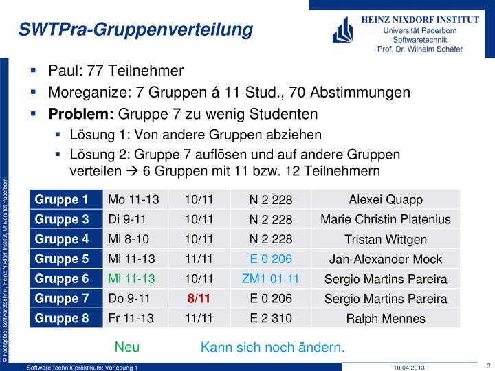 SWTPra-Gruppenverteilung