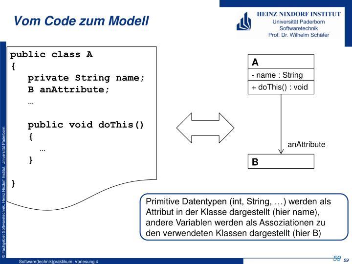 Vom Code zum Modell