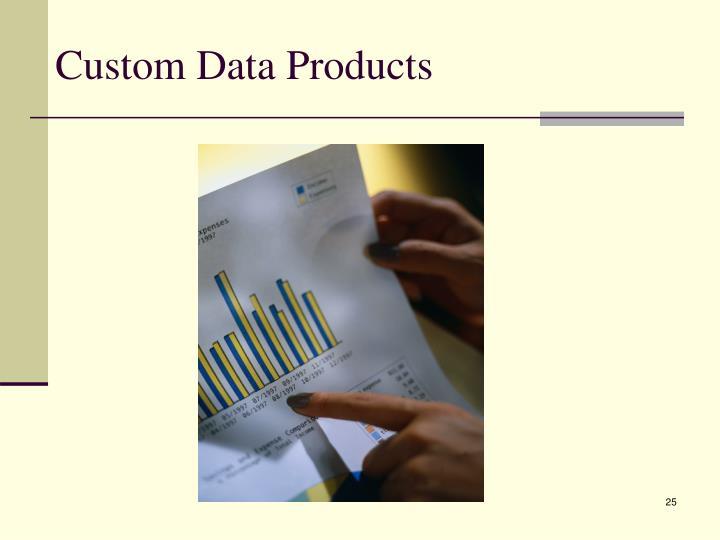 Custom Data Products