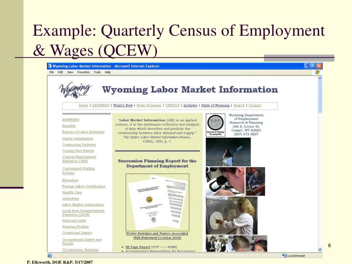 Example: Quarterly Census of Employment & Wages (QCEW)