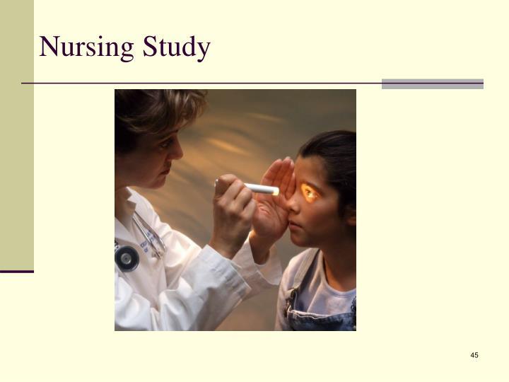 Nursing Study