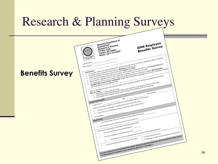 Research & Planning Surveys