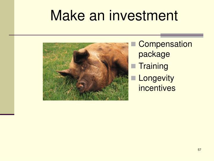 Make an investment