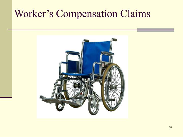Worker's Compensation Claims