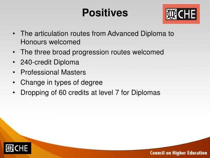 The articulation routes from Advanced Diploma to Honours welcomed