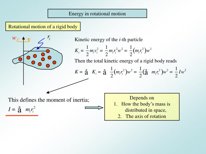 Energy in rotational motion