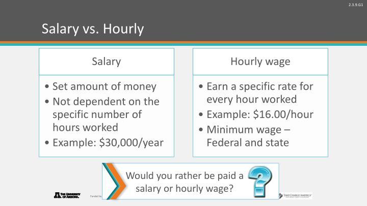 Salary vs. Hourly
