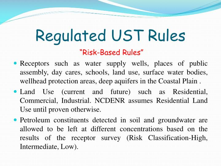 Regulated UST Rules