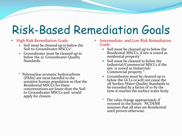 Risk-Based Remediation Goals