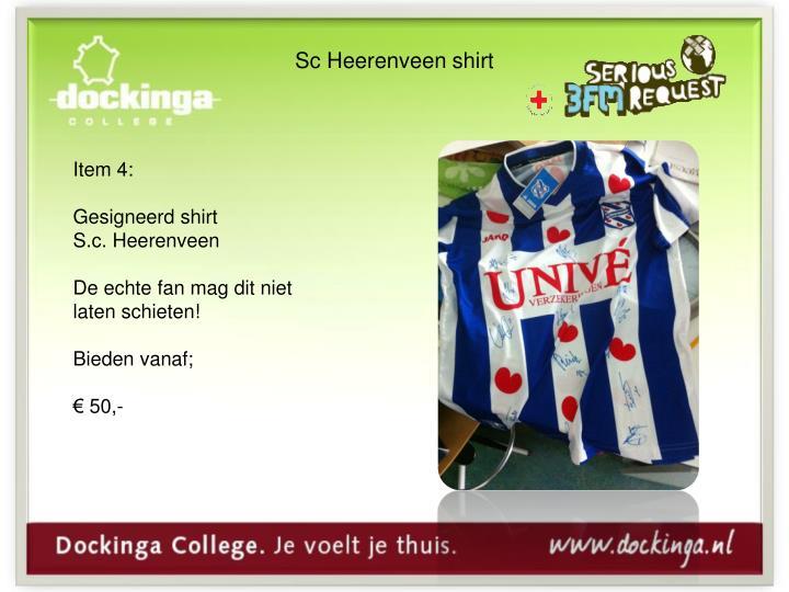 Sc Heerenveen shirt