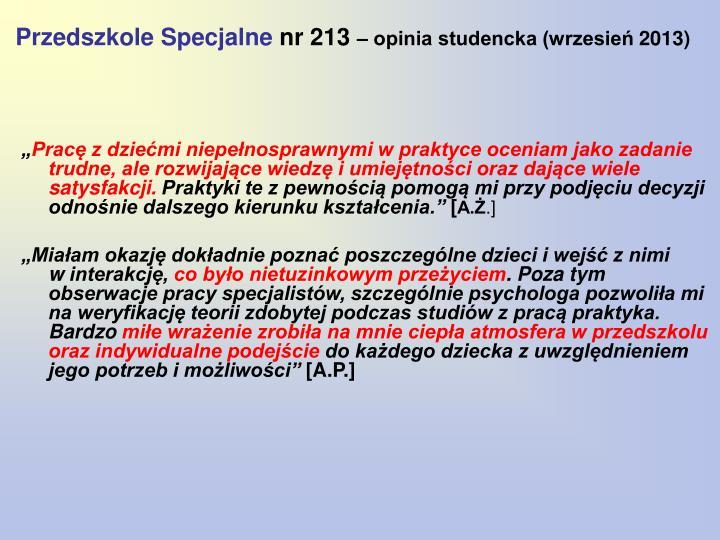 Przedszkole Specjalne