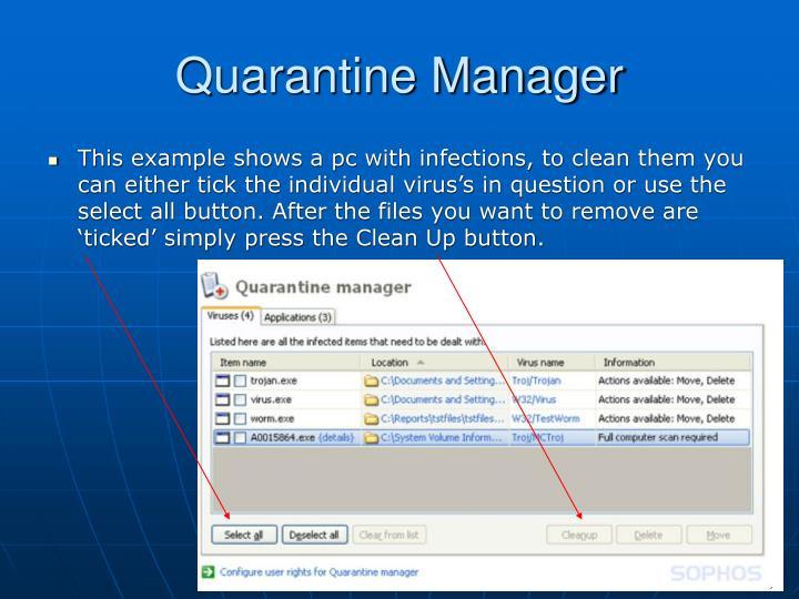 Quarantine Manager