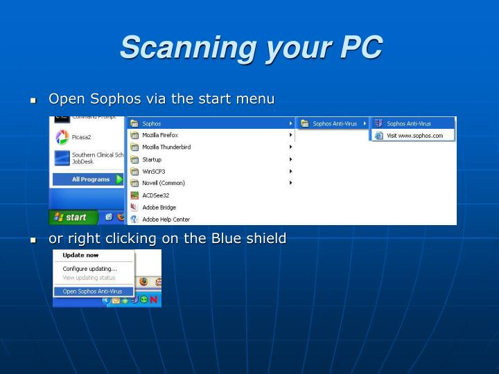 Scanning your PC