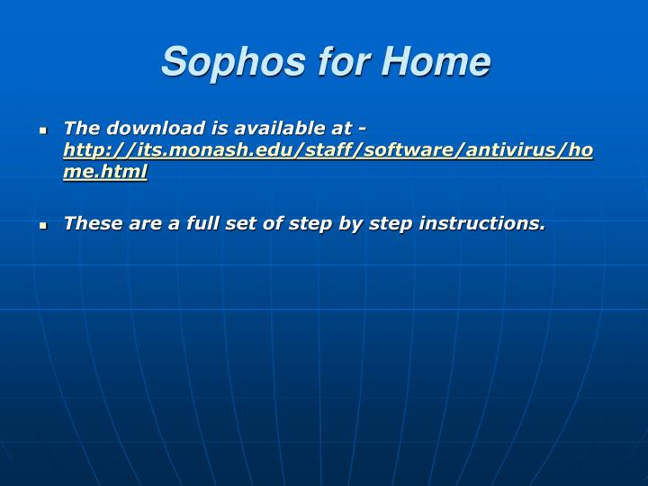 Sophos for Home