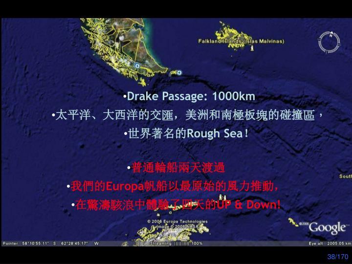 Drake Passage: 1000km