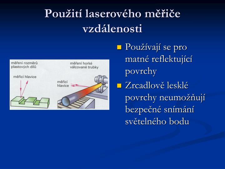 Použití laserového měřiče vzdálenosti